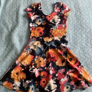 Colorful Flower Dress Size M